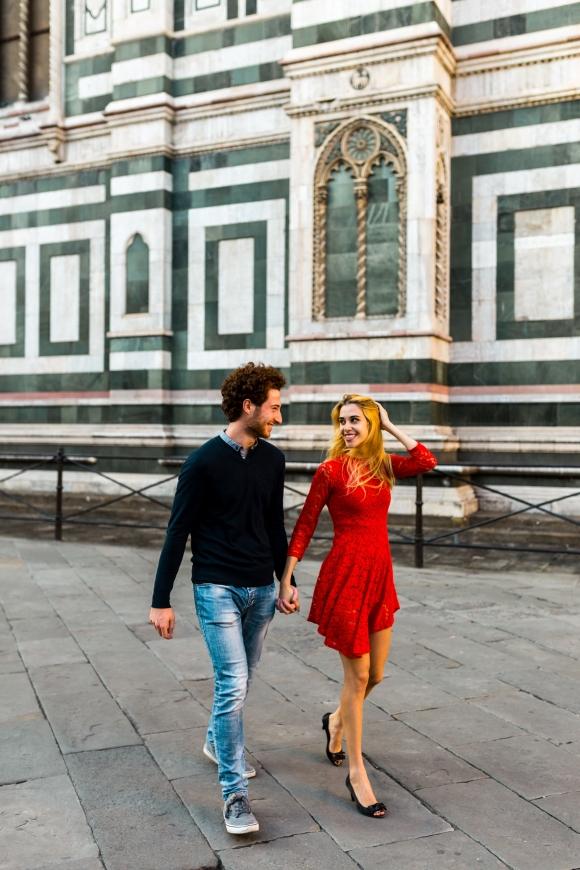 Loveshoot met Filippo & Erika in Florence