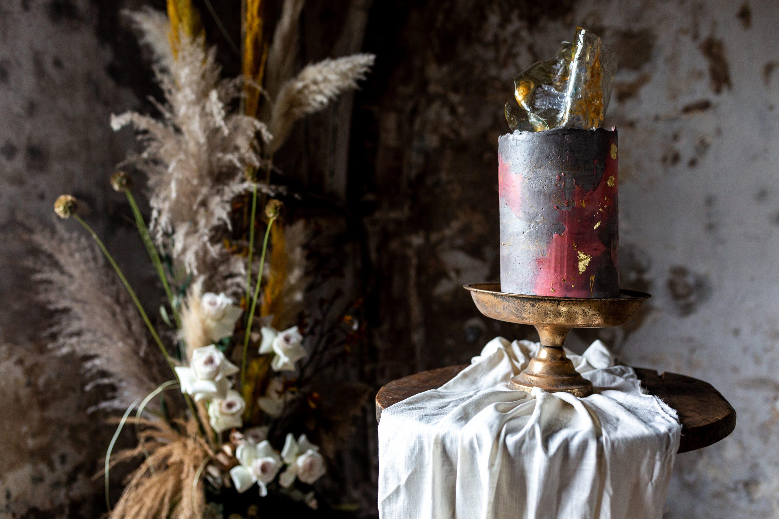 trouwleveranciers metaalkathedraal bruidstaart blog