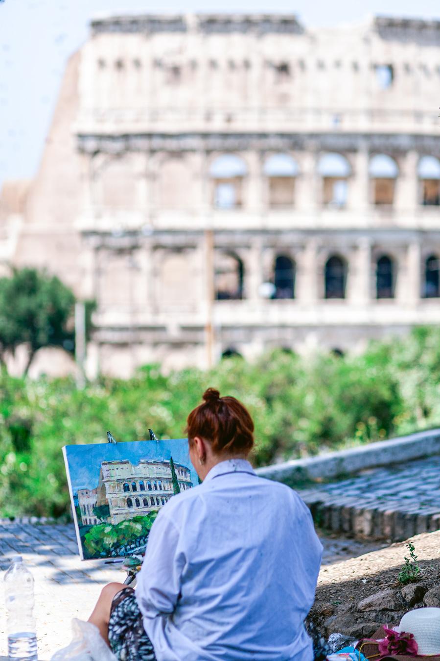 reisfotografie rome straatartiest